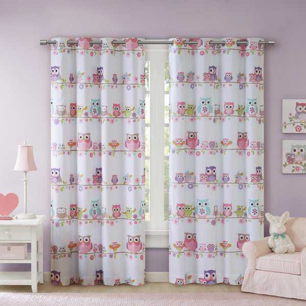 Mi Zone Kids Noctural Nellie Owl Printed Blackout Grommet Curtain Panel