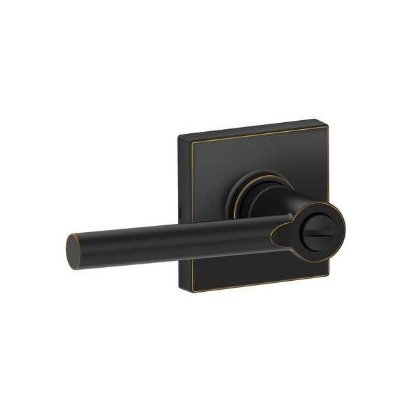 Schlage J40-BRW-COL Brentwood Privacy Door Lever Set with Decorative Colton Trim from the J-Series - N/A