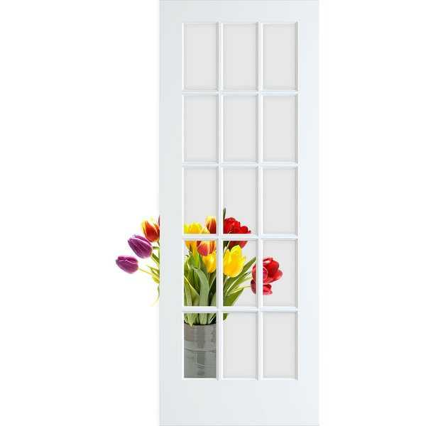 Frameport CGL-PD-15L-6-2/3X2-2/3 Clear Glass 32' by 80' 15 Lite Interior French Door - N/A