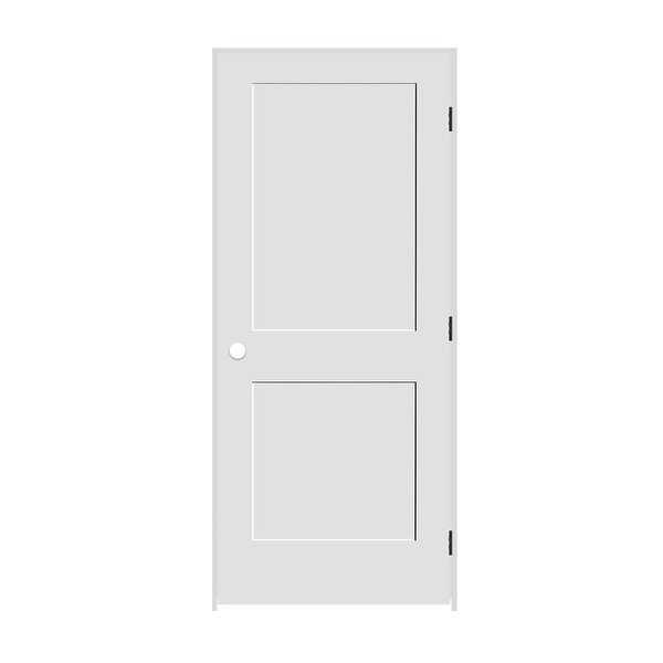 Trimlite 2168138-8402LH10B4916 34' by 80' Shaker 2-Panel Left Handed Interior Pr - Primed - N/A