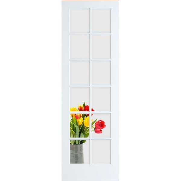 Frameport CGL-PD-12L-8X1-1/2 Clear Glass 18' by 96' 12 Lite Interior French Door - Primed - N/A