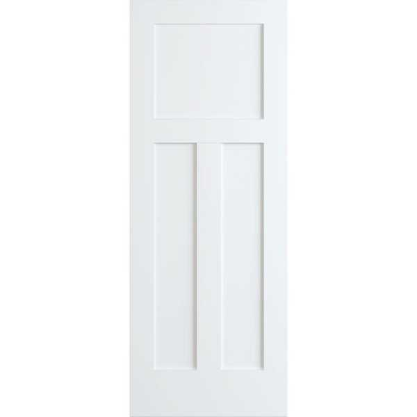 Frameport SHK-PD-F1/2P-6-2/3X3 Shaker 36' by 80' Flat 1 + 2 Panel Interior Passage Door - Primed - N/A