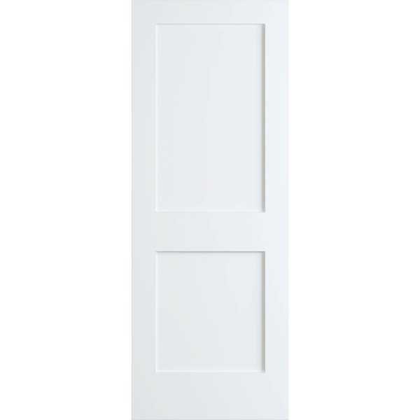 Frameport SHK-PD-F2P-6-2/3X2 Shaker 24' by 80' Flat 2 Panel Interior Passage Door - Primed - N/A