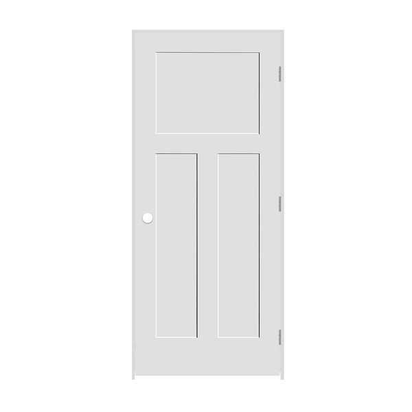 Trimlite 2668138-8403LH26D4916 30' by 80' Shaker 1+2-Panel Left Handed Interior - Primed - N/A